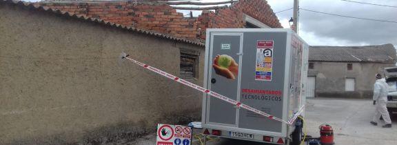 Retirada de fibrocemento en San Vicente de Arévalo (Ávila)