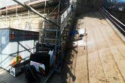 Trabajos de la última fase de restauración de las cubiertas de la Catedral de Santiago de Compostela