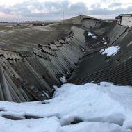 Desamiantado de cubierta colapsada