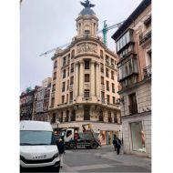 Retirada y eliminación de bajantes en el edificio La Unión y el Fénix de Valladolid